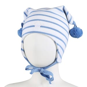 Striped windproof hat star white/light blue - Kivat