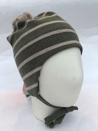 Striped windproof hat green - Kivat