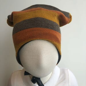 Striped hat grey/oker - Kivat