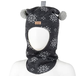 Snow flake hood charcoal/light grey - Kivat