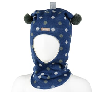Hood with dots blue with dots - Kivat