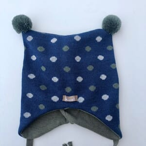 Hat with small dots blue - Kivat