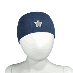 Headband windproof star dark blue - Kivat