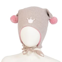 Windproof hat crown wo/co beige/pink - Kivat