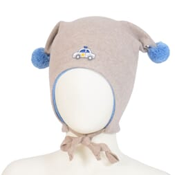 Windproof hat car wo/co beige/blue - Kivat