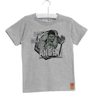 T-Shirt Angry Hulk melange grey - Wheat