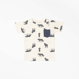 Sigurd T-shirt mood indigo playing wolves - Albababy