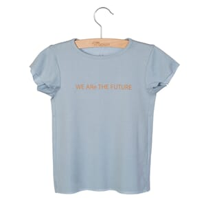 T-shirt Dean Print Blue Fog - Little Hedonist