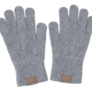 Wool Gloves Grey Melange - Melton
