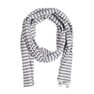 Summer Raw Edge Scarf Stripe - Gray Label