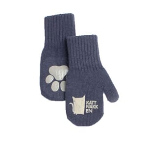 Long magic mittens dark blue - Kattnakken