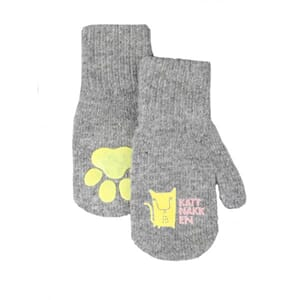 Long magic mittens grey - Kattnakken