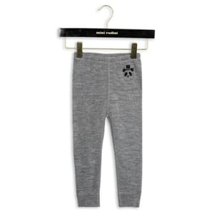 Panda Sp Wool Leggings dk grey mel - Mini Rodini