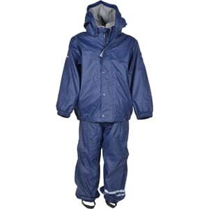 Rainwear w/fleece dark marine - Mikk-Line