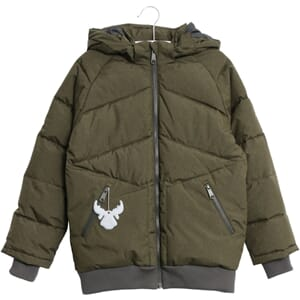 Down Jacket Birk army melange - Wheat