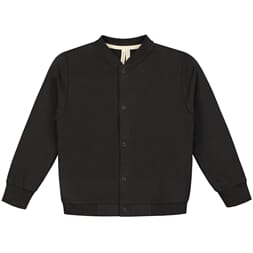Baseball Cardigan Nearly Black - Gray Label