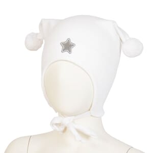 Windproof hat star white - Kivat