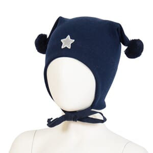 Windproof hat star  navy - Kivat
