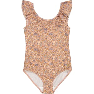 Swimsuit Marie-Louise flowers and seashells - Wheat