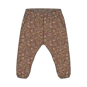 Trousers Malou caramel flowers - Wheat