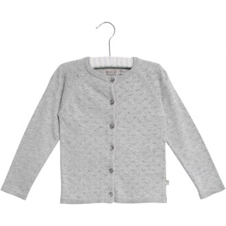 Knit Cardigan Maja melange grey - Wheat