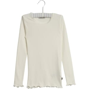 Rib T-Shirt Lace LS ivory - Wheat
