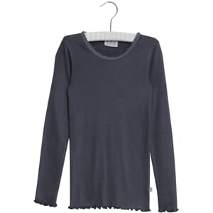 Rib T-Shirt Lace LS greyblue - Wheat