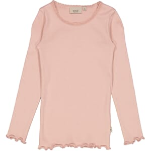 Rib T-Shirt Lace LS misty rose - Wheat