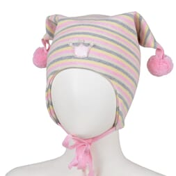 Striped  hat crown pink/offwhite - Kivat
