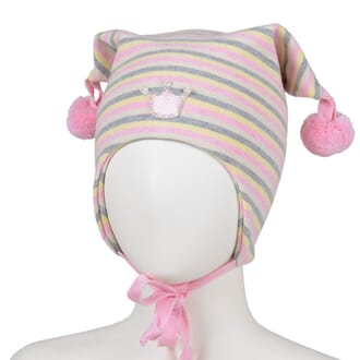 Striped hat crown light pink/offwhite - Kivat