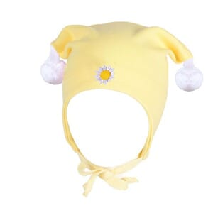 Windproof hat flower yellow - Kivat
