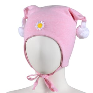 Windproof hat flower light pink - Kivat