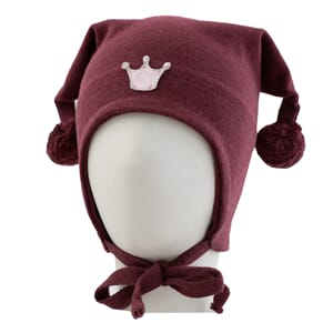 Windproof hat crown burgundy - Kivat