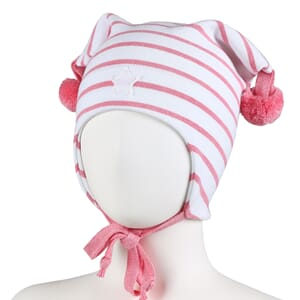 Striped windproof hat star white/pink - Kivat