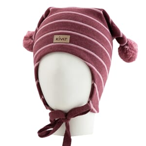 Striped windproof hat burgundy/pink - Kivat