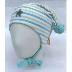 Striped windproof hat star white/mint - Kivat