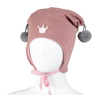 Joker hat crown dusty pink/grey - Kivat