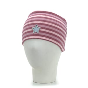 Striped headband windproof warm pink/pink - Kivat