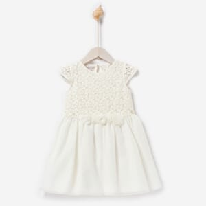 Woven Girl Dress cream - Paz Rodríguez