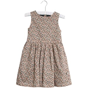 Dress Thelma ink flowers - Wheat