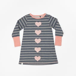 Line Dress mood indigo striped - Albababy