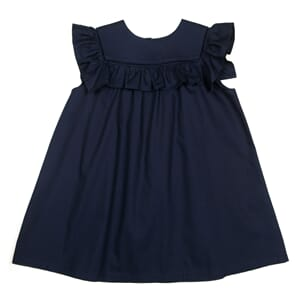 Crowny dress Navy poplin - Huttelihut
