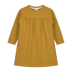 Pleated Dress mustard - Gray Label