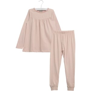 Pajamas Yoke LS dark rose - Wheat