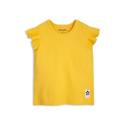 Solid Rib Wing Tee yellow - Mini Rodini