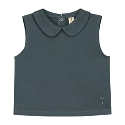 Collar Tank Top Blue Grey - Gray Label