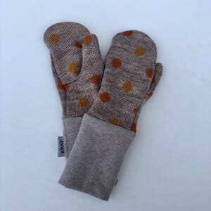 Mittens with dots beige - Kivat