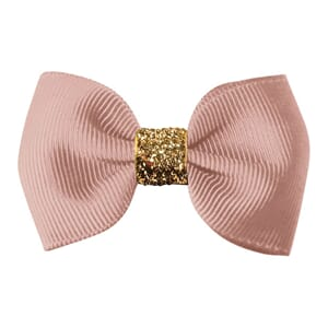 Small bowtie bow antique mauve/gold glitter - Milledeux