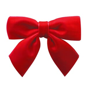 Medium bowtie bow with tails scarlet - Milledeux