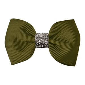 Small bowtie bow sage glitter - Milledeux